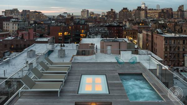 West Village penthouse with rooftop deck and pool