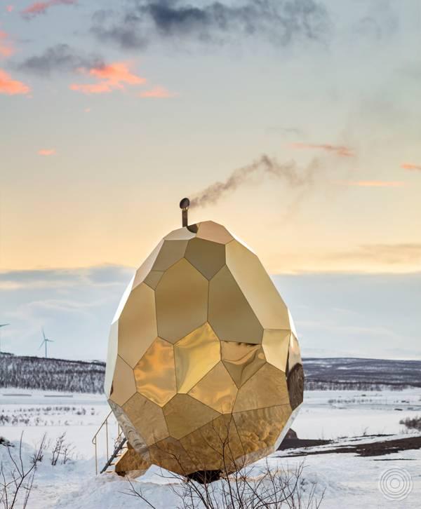 Solar egg Sauna by Bigert & Bergstrom