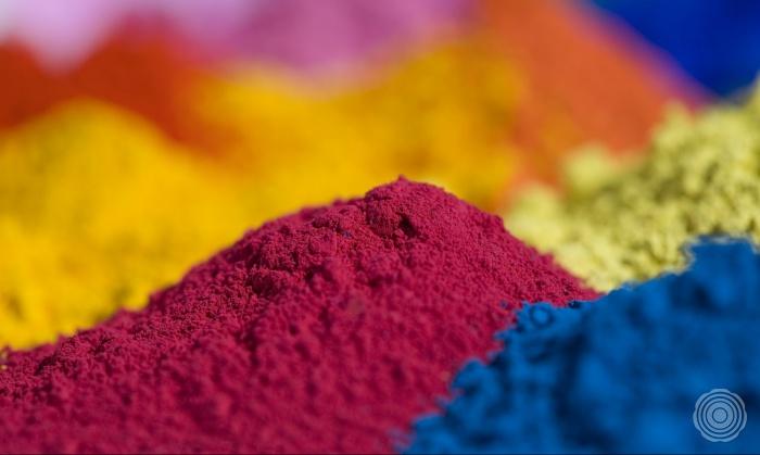fantastische kleuren natuurlijke pigmenten worden toegevoegd