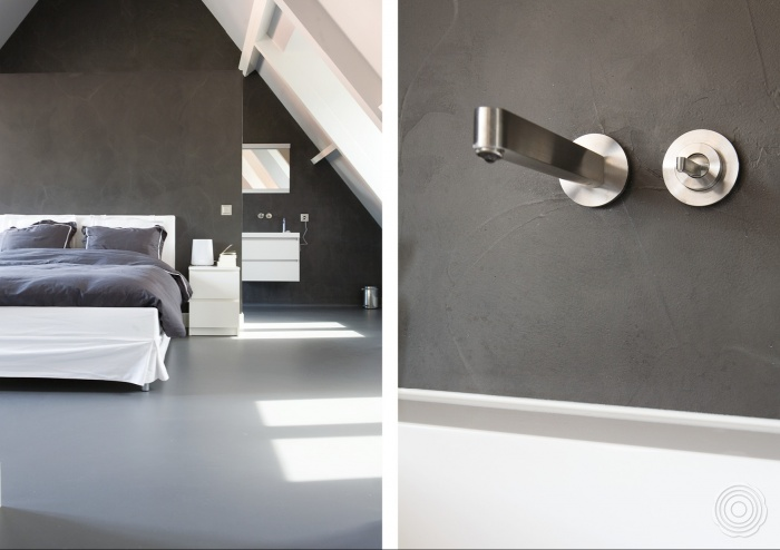 Badkamer Wanden Zonder Tegels : gietvloer voor de badkamer een ...