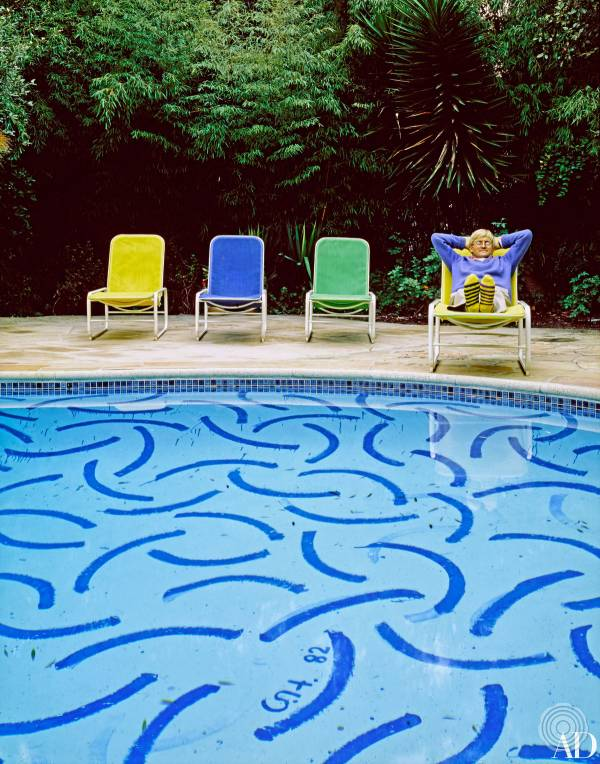 David Hockney's pool